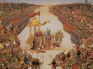 BG Krishna instructs Arjuna